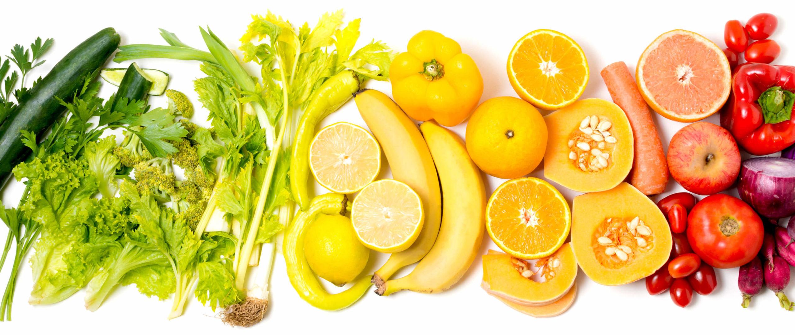 montaje fruta y verduras